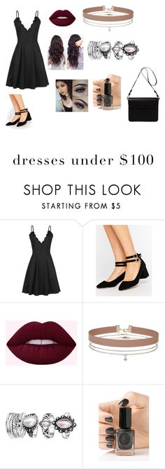 """""""Black slip"""" by a-chavez9 ❤ liked on Polyvore featuring ASOS, Miss Selfridge, Cirque Colors and Orla Kiely"""