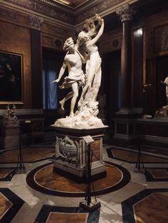 At work: The Apollo and Daphne by Gian Lorenzo Bernini. The masterpiece of … Sculpture Du Bernin, Bernini Sculpture, Sculpture Projects, Sculptures, Sculpture Ideas, Gian Lorenzo Bernini, Baroque Art, Greek Art, Renaissance Art
