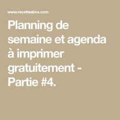Planning de semaine et agenda à imprimer gratuitement - Partie #4.