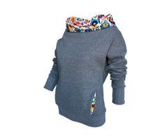 Folkowa Bluza z kominem - Awu-and-Fabubu - Bluzy z kapturem