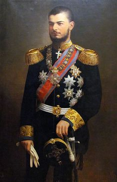 Uroš Predić Alexander I, King of Serbia (Aleksandar Obrenovic.) (Serbia became part of Yugoslavia in Historical Art, Historical Pictures, Royal Family Lineage, Vintage Military Uniforms, Imperial Officer, Grand Prince, Renaissance Portraits, Belgrade Serbia, Early Middle Ages