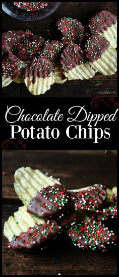 Learn how to make Chocolate Dipped Potato Chips with easy recipe. Where I grew up in Florida we have a candy shop that makes chocolate covered potato chips. Holiday Snacks, Christmas Snacks, Holiday Recipes, Christmas Candy, Christmas Cookies, Christmas Recipes, Christmas Appetizers, Christmas Eve, Xmas Desserts
