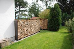 Sichtschutz Stahl-Holz 1