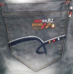 Denim Jeans, Logo Design, Embroidery, Pocket, Lifestyle, Men, Bermudas, Pockets, Clothing