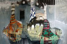 """Clare Carter - """"New Territories Festival"""", Painting , 205x140cm"""