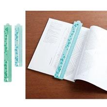 Pattern Chart Marker Set- Keep your place on complicated charts and patterns. Simply slip the pattern chart marker onto the chart and hold in place with the attached magnet. Chart marker moves easily to the next row as you work your pattern.