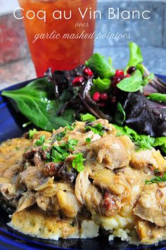 Coq au Vin Blanc makes a wonderful recipe to serve when entertaining. A great make-ahead meal that gets rave reviews. Yes soon, french food yummilicious!!!