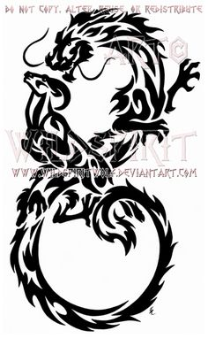 Infinity Dragon And Ram Tribal Design by WildSpiritWolf.deviantart.com on @deviantART