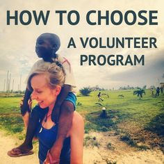 This is FCS because it helps you choose a volunteer program which is where it all starts. If you really want to help then looking at this article will help you find how to actually do what you want. Volunteer Overseas, Volunteer Abroad Programs, Volunteer Services, Volunteer Work, International Volunteer Programs, Volunteer Gifts, Volunteer Appreciation, Travel Jobs, Work Abroad