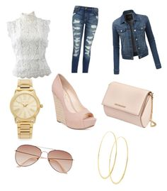 """letni outfit"" by jana-zy on Polyvore featuring Oscar de la Renta, LE3NO, Current/Elliott, H&M, Michael Kors, Lana, Givenchy and Jessica Simpson"
