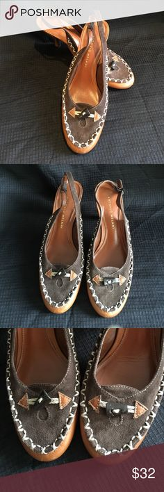 Antonio Melani Brown Sling Back Heels Antonio Melani Brown Sling Back Heels. Heel is approx 3.5 inches high. Gently used. The light brown is leather and the dark brown is suede. ANTONIO MELANI Shoes Heels