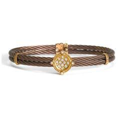Charriol 'celtique' Champagne Diamond & Bronze Bracelet ($1,795) ❤ liked on Polyvore