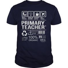 Awesome Shirt For Primary Teacher T-Shirts, Hoodies. CHECK PRICE ==► https://www.sunfrog.com/LifeStyle/Awesome-Shirt-For-Primary-Teacher-Navy-Blue-Guys.html?id=41382