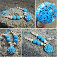 Your place to buy and sell all things handmade Breastfeeding Necklace, Wood Circles, Nursing Necklace, Teething, Collar Necklace, New Moms, Turquoise Bracelet, Fashion Accessories, Buy And Sell