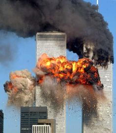 Hijacked United Airlines Flight 175 from Boston crashes into the south tower of the World Trade Center and explodes at a. on September 2001 in New York City. (Photo by Spencer Platt/Getty Images) never forget World Trade Center, Trade Centre, We Will Never Forget, Lest We Forget, Don't Forget, God Bless America, We Are The World, Change The World, Flatiron Building