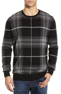 4fa0dd4a6077bc BARBOUR JACQUARD TARTAN CREWNECK SWEATER.  barbour  cloth