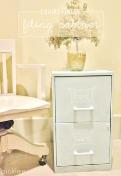 HOW TO use chalk paint on a ugly metal filing cabinet!
