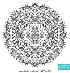 Mandala Coloring Book Pages Indian Antistress Medallion Abstract