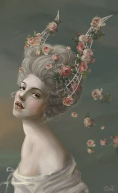 Marie Antoinette Inspired Art ~ Anya Sergeeva Ideas for forest nymph costume