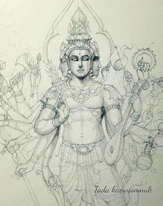 Shiva Art, Krishna Art, Hindu Art, Tantra Art, Lord Ganesha Paintings, Thailand Art, Thai Art, Indian Art Paintings, Buddha Art