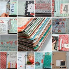 Great idea for a daily art journal. Might have to try this.