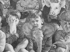 "Elephriend. Detail from kozyndan's ""Spirit Animal Collective""."