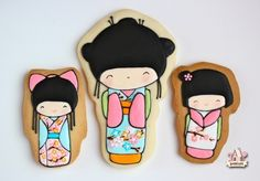 Kokeshi dolls decorated cookies and a HUGE FAQ about cookie decorating. Great recourse!