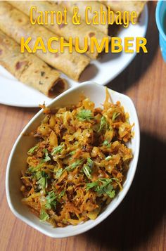 Carrot and Cabbage Kachumber Recipe - Gujarati Sidedish