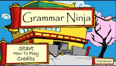 Grammar Ninja:  a fun game to help students develop a working knowledge of the parts of speech including nouns, verbs, adjectives, adverbs, articles, conjunctions, and prepositions.