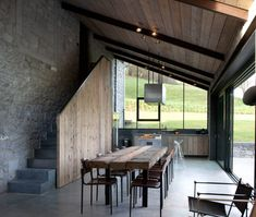 dining room and kitchen in #gite #ardennes by Anne en Jean-Luc Laloux