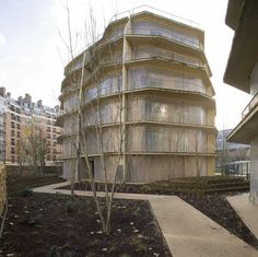Herold Apartments Paris  2009    Design: Jakob+MacFarlane    PROGRAM OF 100 SOCIAL APARTMENTS  ANCIENT SITE OF HOSPITAL HEROLD, PARIS