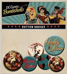 DC Comics Bombshells Badge Pack - Official Licensed Product in Collectables,Badges/ Patches,Character Badges | eBay