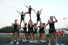 CFHS cheerleaders performing at the 2013 Fall Sports Kickoff.
