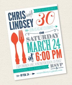 30th birthday party invitation | 30th bday