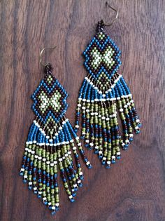 earth meets water by LittleBearBeads on Etsy #beadwork