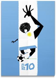 El 10 / 2nd - Poster Soccer Cracks Series by Oscar Correa, via Behance