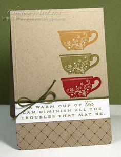 Onder het genot van een lekker kopje thee, Vallen alle zorgen hopelijk toch wel weer mee!