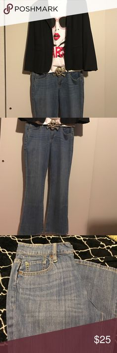 NWOT Old Navy boot cut jeans 👖 Just below waist, stretch, short, curvy, boot cut, color is bright night blue. Have never been worn/washed. Tried on when rec'd in mail, were too small. Old Navy Jeans Boot Cut