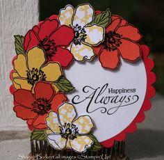 Fabulous Florets Circle Easel Card