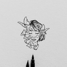 Tattoo design for Alice, grazie! I'm available for tattoo design and custom illustrations, send me a DM :) . Art And Illustration, Black And White Illustration, Kunst Inspo, Art Inspo, Art Sketches, Art Drawings, Buch Design, Design Art, Design Ideas