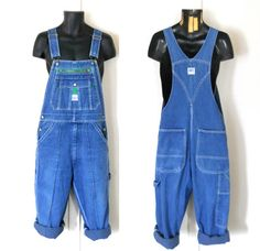 Men Overall Shorts Salopette Denim Dungaree by TheVilleVintage, $49.99