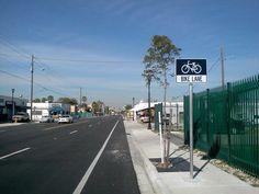 NE 2nd Ave Bike Lane