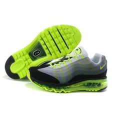super popular a5223 d9314 Nike Air Max 95 Dynamic Flywire Dames Hardloopschoenen Witg Leigrijs Zwart  Fluorescerend Groen  u7upqO