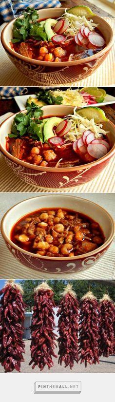 Posole or Pozole Pork Hominy Stew - Frugal Hausfrau Mexican Cooking, Mexican Food Recipes, Vegetarian Mexican, Slow Cooker Recipes Mexican, Vegetarian Recipes, Dessert Recipes, Pork Recipes, Cooking Recipes, Hominy Recipes