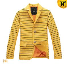 Cool Leather Blazer Jacket Men Leather Blazer Jacket CW866829 $578.78 - www.cwmalls.com