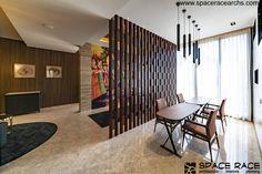 Waterfall House, Sanctum Sanctorum, Dark Color Palette, Stone Cladding, Space Race, Drawing Room, Open Floor, Open Plan, Ground Floor