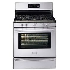 Frigidaire�Gallery 30-in 5-Burner Freestanding 5 cu ft Self-Cleaning Convection Gas Range (Stainless Steel)