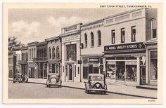 Tunkhannock PA East Tioga Street Pennsylvania Postcard | eBay