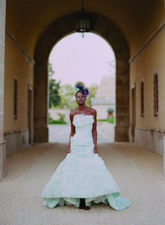 Twigs & Honey Hair Adornment and Romona Keveza Gown in Munaluchi Bride Magazine
