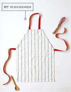 DIY No Sew Kids Apron (from a $1 ikea Dish Towel!)